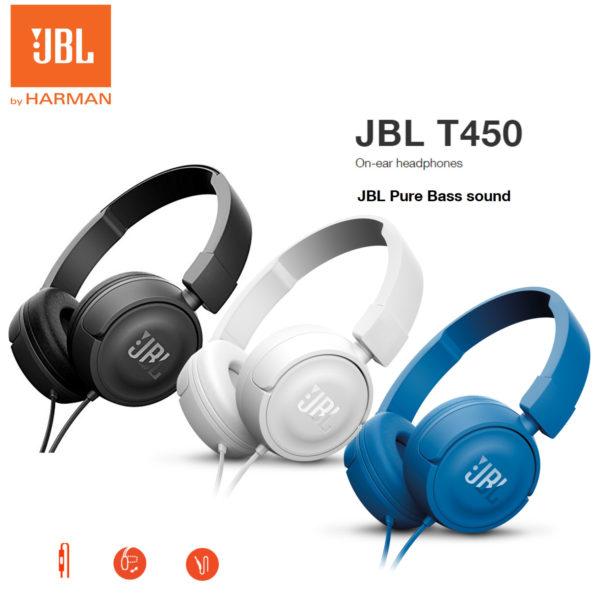 e81e48d19c0 JBL T450 On-Ear Headphones Headset Powerful Bass Earphone Original ...